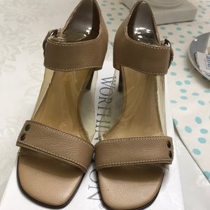 Worthington Beige sandals with side buckle